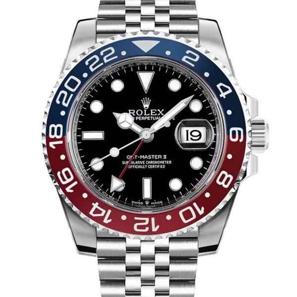 Rolex Gmt-master Ii 126710blro 40mm Bracciale Da Donna Automatico 904l In Acciaio Oystersteel