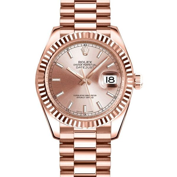 Rolex Datejust 178275 31MM da donna automatico 18k Everose Bracciale in oro
