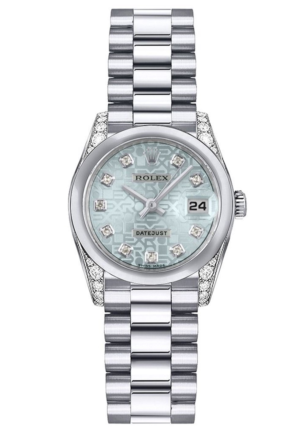 Rolex Datejust 179296 26MM Bracciale automatico da donna in platino