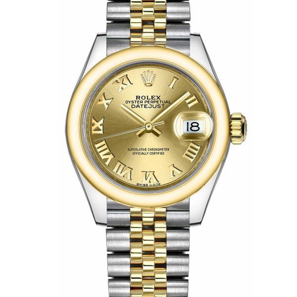 Rolex Datejust 279163 28mm 904l Cinturino In Acciaio Inossidabile Automatico Lady