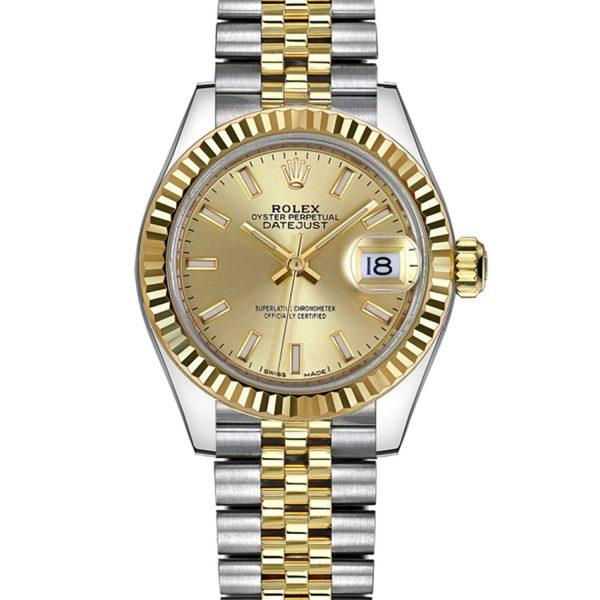 Rolex Datejust 279173 28MM donne cinturino in acciaio inossidabile automatico Oystersteel