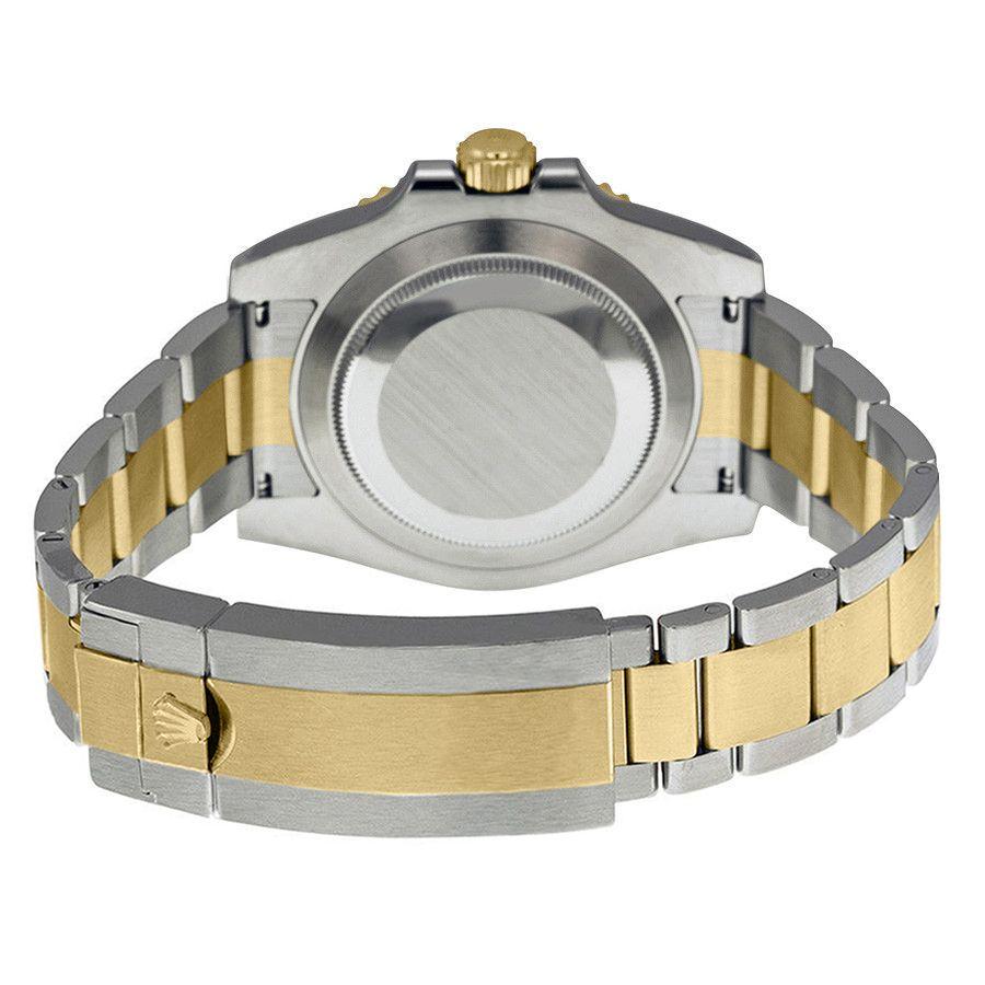 Rolex Submariner 116613LN 40MM da uomo automatico oro giallo 18k con bracciale Oyster in acciaio inossidabile Oystersteel 904L spazzolato